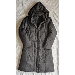 Midnight Blue Long Puffer Winter Jacket